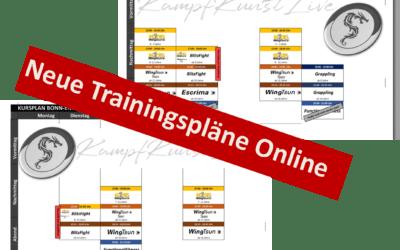 Trainingszeiten: Bonn und Niederkassel